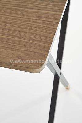 Benjamin, psací stůl, ořech/černá/zlatá - 5