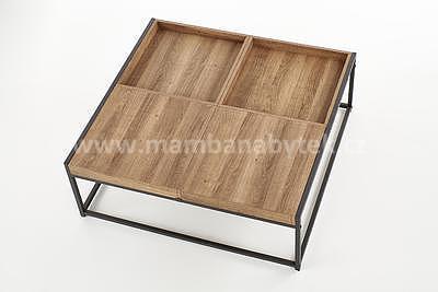Fregata, konferenční stolek, ořech medový/černá - 5