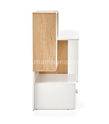 Grosso, psací stůl, dub zlatý/bílá - 5