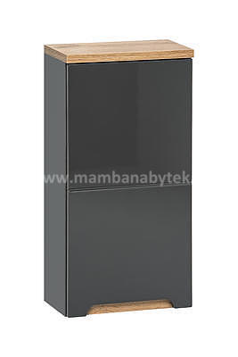Bali Grey 60, koupelnová sestava šedá/dub wotan + umyvadlo - 6