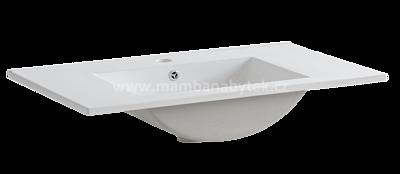 Aruba 80, koupelnová sestava bílá lesklá + umyvadlo - 6