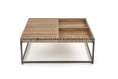 Fregata, konferenční stolek, ořech medový/černá - 6