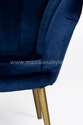 Tristan 2, pohovka - sametově modrá/zlatá - 6