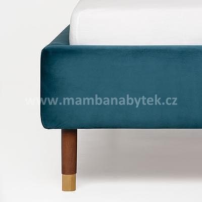 Muse, 160x200 cm, modrá sametová - 7
