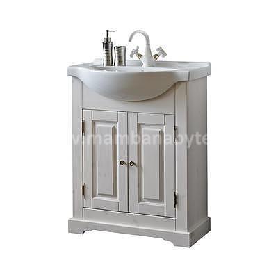 Romantic 85, koupelnová sestava bílá + umyvadlo - 7