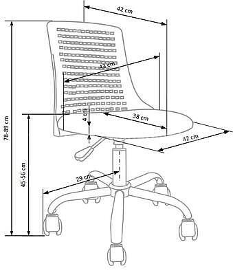 Pure, dětská židle, růžová - 7